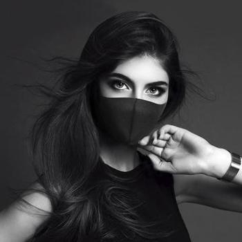 (日常居家生活用品)男女情侣同款口罩立体黑色PM2.5防尘口罩