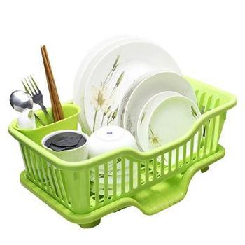 (生活用品)厨房创意用品整理架整理柜塑料碗碟沥水架