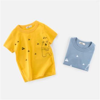 童装韩版boys t shirt儿童短袖T恤纯棉宝宝上衣