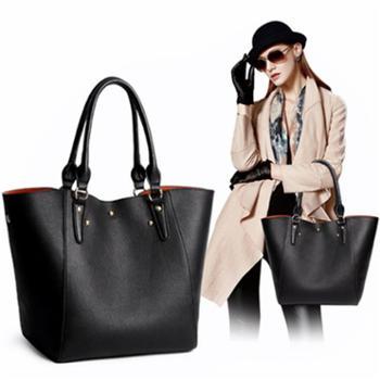 女包欧美时尚复古单肩水桶包手提包