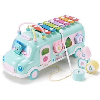 儿童音乐巴士手敲琴8个月宝宝乐器玩具1-2-3周岁益智男孩女孩早教