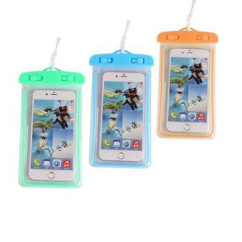 美浴生活优选游泳防水手机袋3个装PVC夜光手机防水袋6寸手机通用