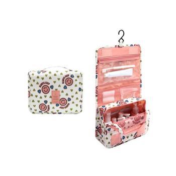 美浴生活旅行挂钩洗漱包防水悬挂收纳袋手提整理包女士可折叠化妆包