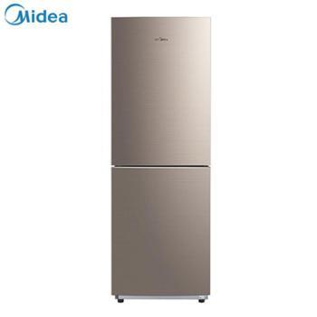 美的(Midea)186升双门电冰箱风冷无霜精细分储家用小冰箱双系统感温探头爵士棕BCD-186WM