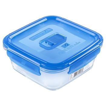 乐美雅纯净钢化玻璃保鲜盒正方形760ml-L0815