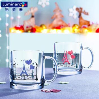 乐美雅诺卡钢化玻璃温感变色对杯380ml(2只装)L9047