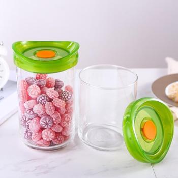 乐美雅乐宜厨玻璃密封储物罐2件套(0.8L+1.1L)