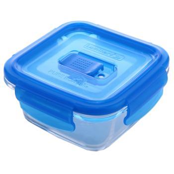 乐美雅全钢化纯净玻璃保鲜盒正方形200ml-L0392