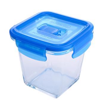 乐美雅全钢化纯净玻璃保鲜盒加深版正方形750ml-L0822