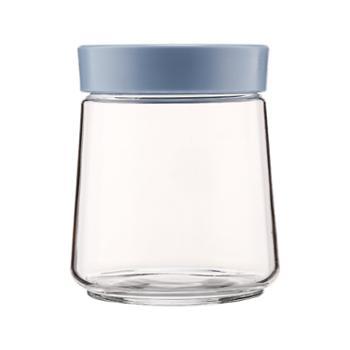 乐美雅炫舞储物罐0.75L密封罐P3791(天蓝色盖子)
