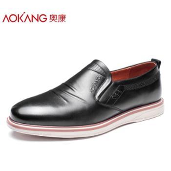 奥康男鞋男皮鞋子商务休闲鞋男皮鞋 韩版男士潮流百搭英伦系带