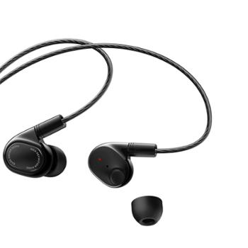 小米圈铁四单元耳机 黑色