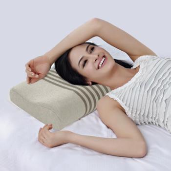 凯诗风尚天竺棉B型曲线枕枕头护颈助眠枕记忆枕