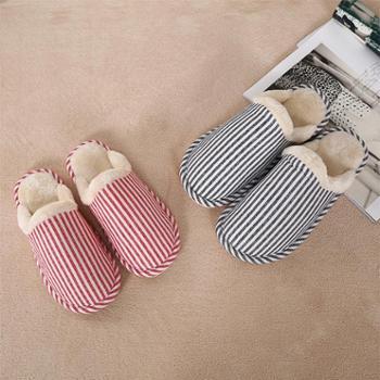 凯诗风尚费格罗条纹超柔拖鞋舒适保暖