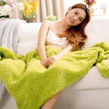 凯诗风尚艾薇系列加厚羊羔绒披肩毯盖毯膝毯午睡毯懒人毯