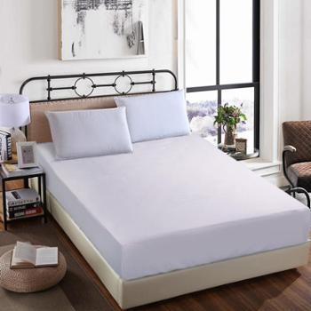 凯诗风尚兰馨系列全棉素色床笠纯色床单床笠浅灰色