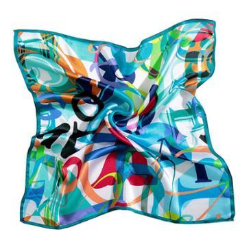 凯诗风尚丝诺系列丝巾真丝围巾手工桑蚕丝方巾摩洛