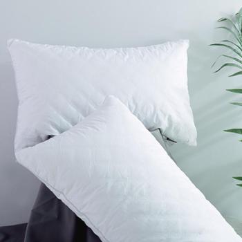 凯诗风尚曼卡全棉羽丝绒枕舒适星级酒店枕芯(买一赠一)