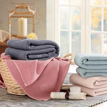凯诗风尚 全棉华夫格盖毯 双面棉加厚夏凉盖毯空调毯 2018新