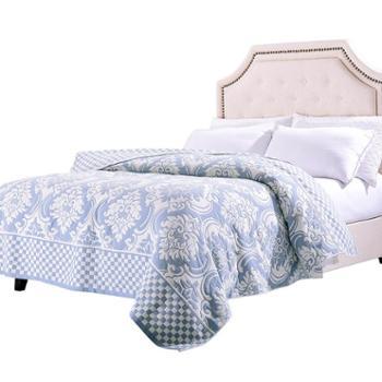 凯诗风尚全棉四层纱布盖毯双面棉亲肤柔软吸汗透气空调盖被沙发盖毯150*200cm