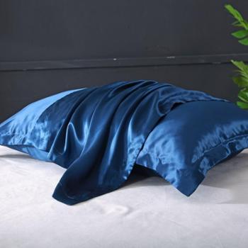 凯诗风尚真丝枕套桑蚕丝枕套细腻柔滑丝绸枕套一对装48*74cm