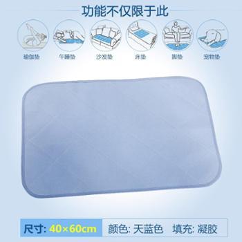 凯诗风尚贝纳系列凝胶薄款枕垫可折叠冰垫凉感冰垫40*60cm