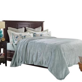 凯诗风尚欧美专柜同款精美法兰绒毯多功能毯子毛毯盖毯床单