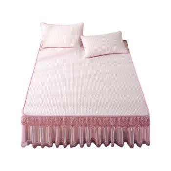 凯诗风尚泰国凉感乳胶凉席三件套床裙款