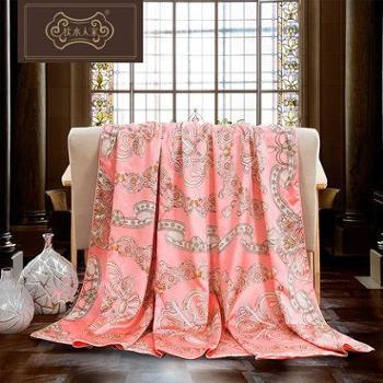 枕水人家真丝被套 双面100%桑蚕丝床品件套丝绸被罩床上用品