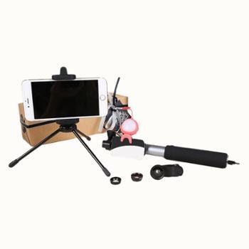 一拍即盒手机补光灯自拍杆广角微距镜头抖音直播遥控拍照