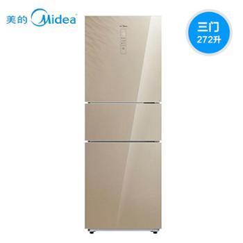 Midea美的 BCD-272WTGZM家用小型电脑控温无霜三门节能静音冰箱