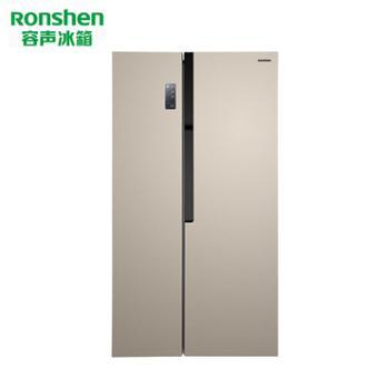Ronshen容声BCD-536WRS1HP对开门风冷无霜变频冰箱 典雅金色