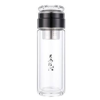 水晶贵族300-5户外茶水分离玻璃杯340ml
