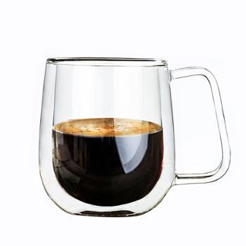 明尚德双层咖啡杯835T带盖马克杯