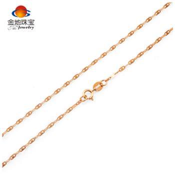金地珠宝18K金日字链