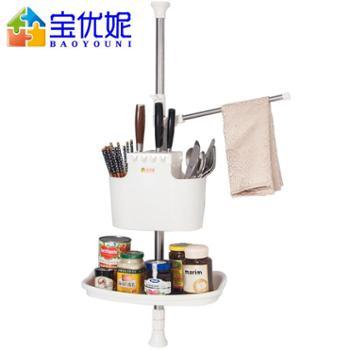 宝优妮筷笼调味料收纳架免打孔调料架刀架壁挂顶天立地厨房置物架DQ1206