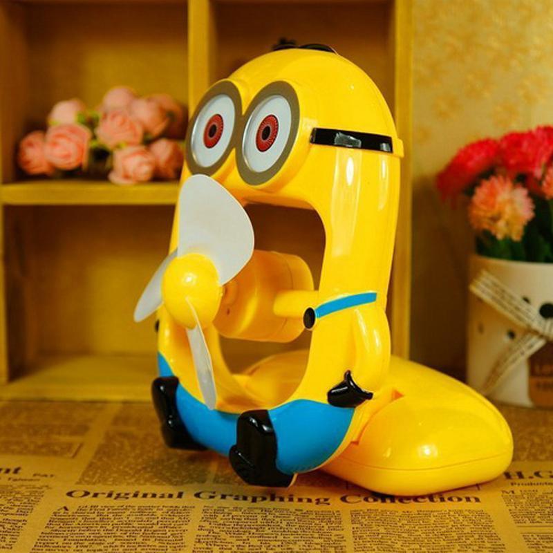 黄色小人风扇卡通迷你风扇usb便携可充电式创意学生办公室小电风扇