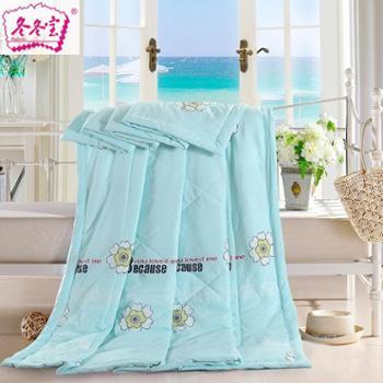 冬冬宝水洗棉夏凉被印花超柔空调被薄被子可水洗单双人包邮