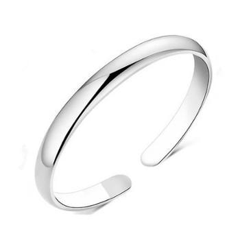 关门可调节光圈开口圆圈手镯 纯银手镯时尚甜美