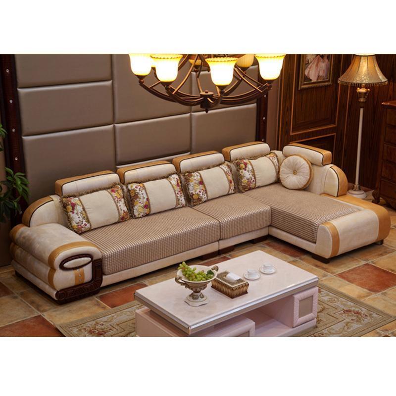 欧式沙发组合 皮布艺小客厅转角奢华贵妃椅 布艺沙发特价可拆洗