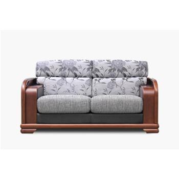 双叶家具双叶实木新中式家具实木沙发现代中式实木沙发