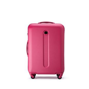DELSEY法国大使拉杆箱新品万向轮行李箱防刮纹理箱面枚红色20