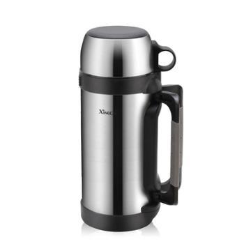 兴财1.5L不锈钢保温壶户外保温瓶车载水壶大容量旅行暖壶热水瓶