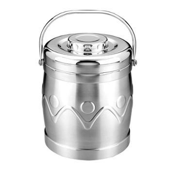 兴财双层真空保温提锅 不锈钢饭盒保温桶 可当焖烧锅用3.0L