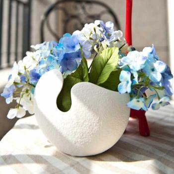 田园风格 白色 陶瓷 素烧花瓶 大中小号可选