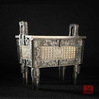 和谐鼎盛国宝名鼎开业商务礼品青铜鼎摆件聚财石开青铜铸造