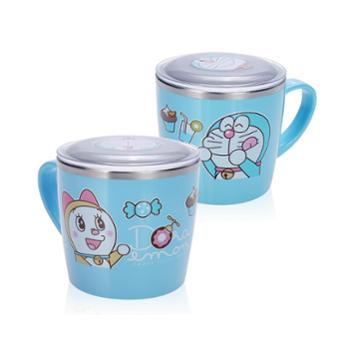 哆啦A梦韩国进口不锈钢饮水杯(配盖)TKCD11001-07