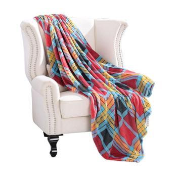 凯诗风尚空调毯法兰绒毯格兰风情办公室午睡毯单人小毯子格兰风情150*200cm