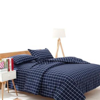 田园风纯棉老粗布三件套 床单 枕套 手工制作