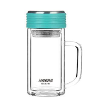 哈尔斯400ml双层隔热玻璃杯